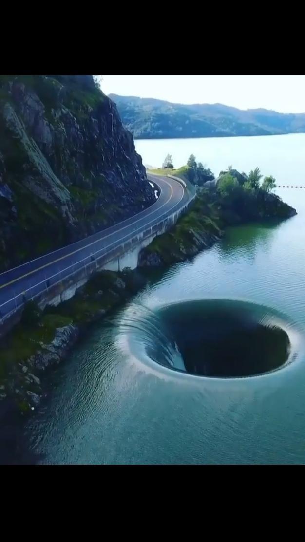 The Glory Hole in Lake Berryessa by Juan Carlos.