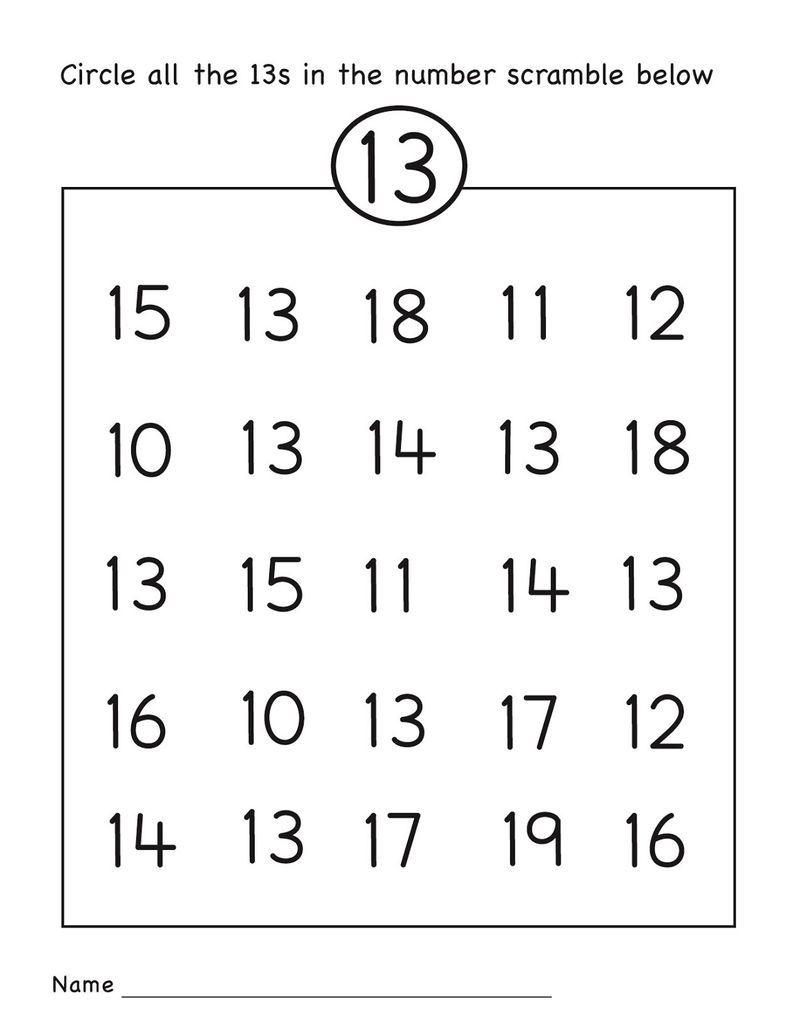 Number 13 Worksheet Preschool 001 Numbers Preschool Preschool Number Worksheets Preschool Worksheets