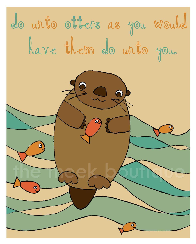 Golden Rule Digital Art Printable Do Unto Otters No 65
