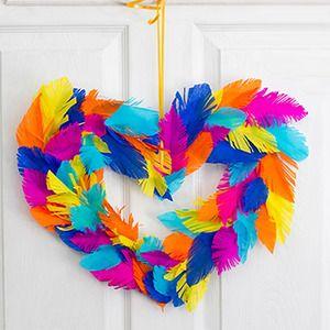 Corona multicolor con plumas de papel manualidades para - Manualidades para ninos con papel ...