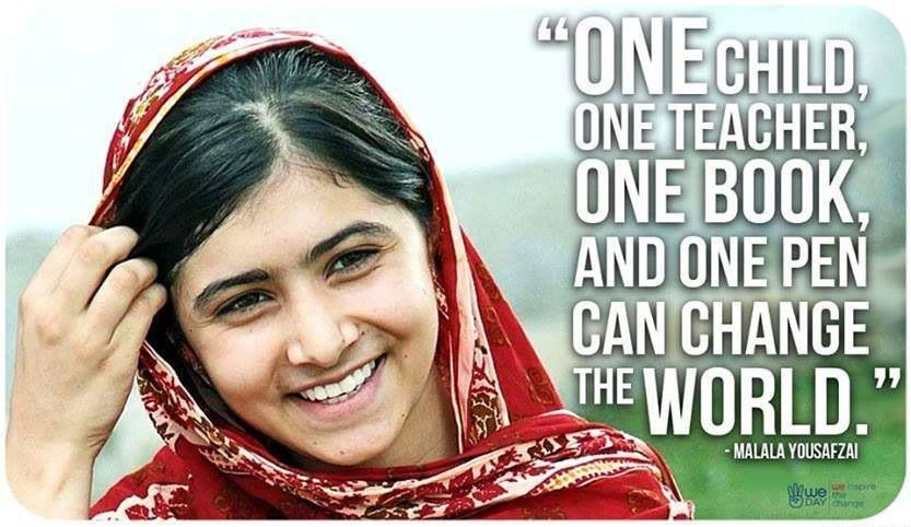 Malala Yousafzai Quote One Child One Teacher One Book And One