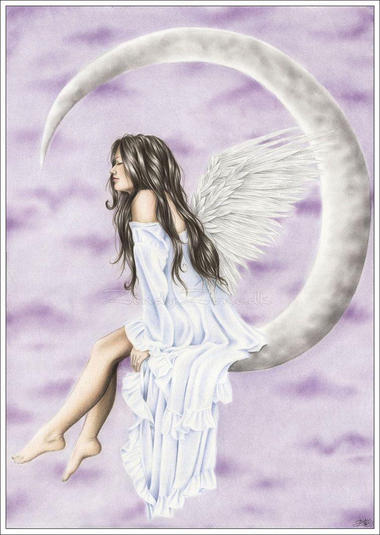 Moon Angel By Zindy On Deviantart Facebookzindyink