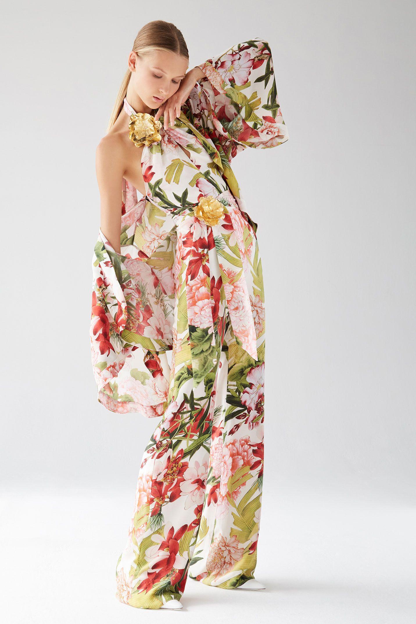 e2cf786fee Josie Natori | Runway 2018 | Fashion, Spring fashion trends, Floral ...