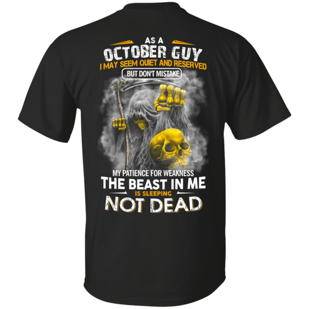 Beast october guy tshirt hoodie beast digital prints and ash