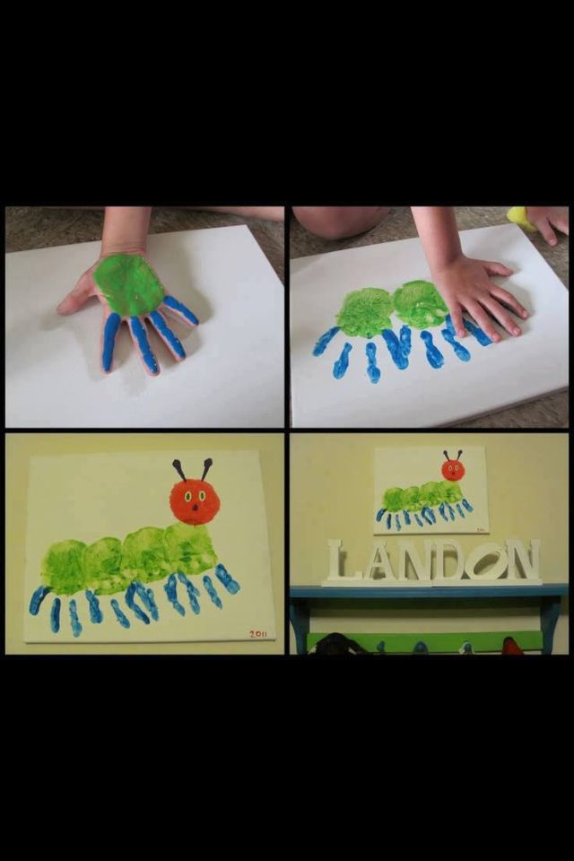 Cute Craft Idea For Small Kids School Hungry Caterpillar Craft