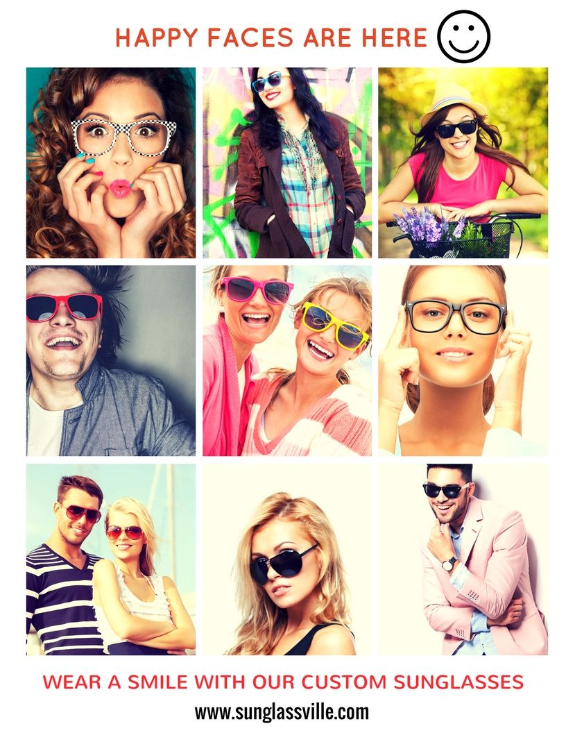 Sunglasses that makes you smile :) every time ! #sunglassville #promotional #sunglasses #makeyousmilestyle #happypeople #freeshipping