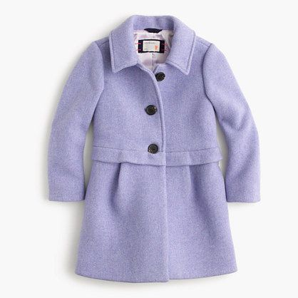 Girls' stadium cloth A-line coat