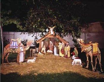 white outdoor nativity scene - Walmart.com | Yard art | Pinterest ...
