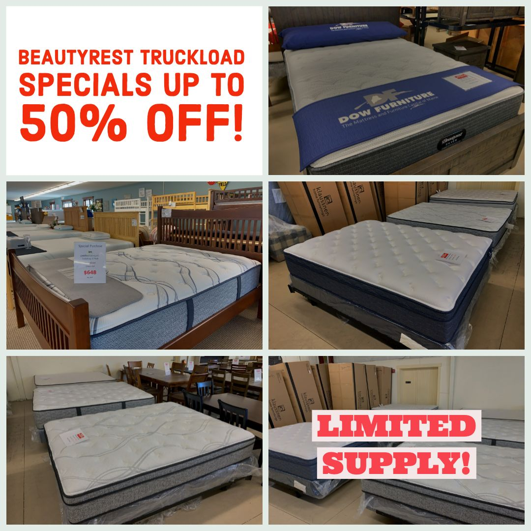 Beautyrest 2019 Truckload Specials At Dowfurniture Save Up To 50 Unbeatable Prices Even On Luxury Mattress Models Li Luxury Mattresses Mattress Waldoboro