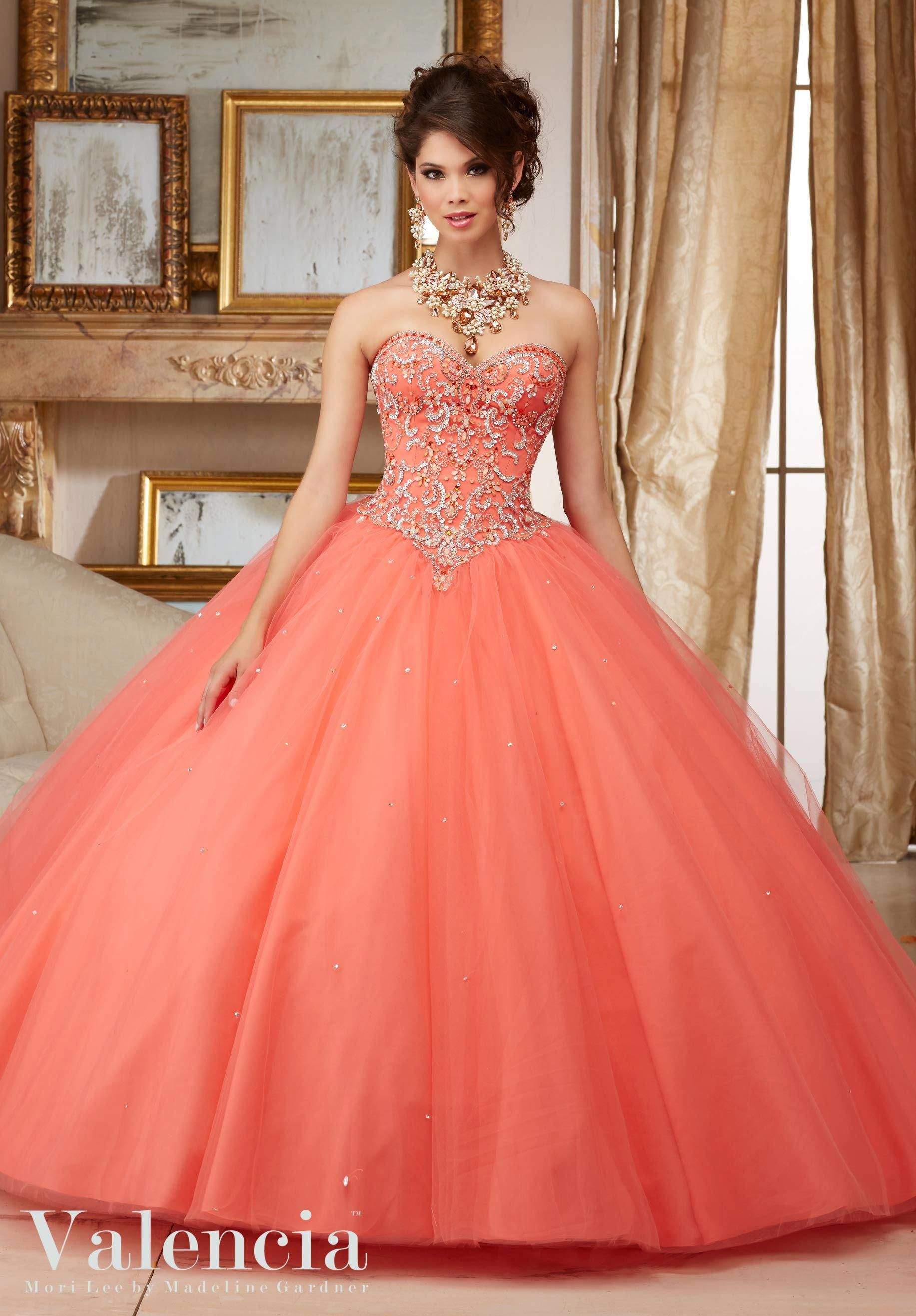 069528099 Cheap Quinceanera Dresses Coral