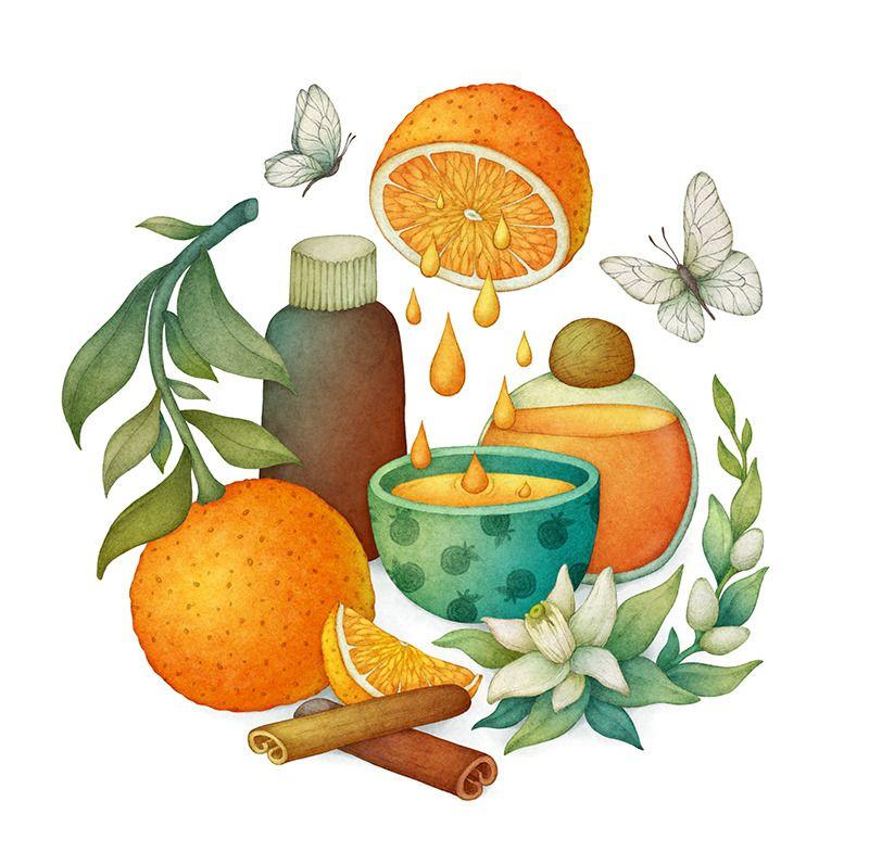 Orange Olga Tumblr Illustration Iphone Wallpaper Vintage Art