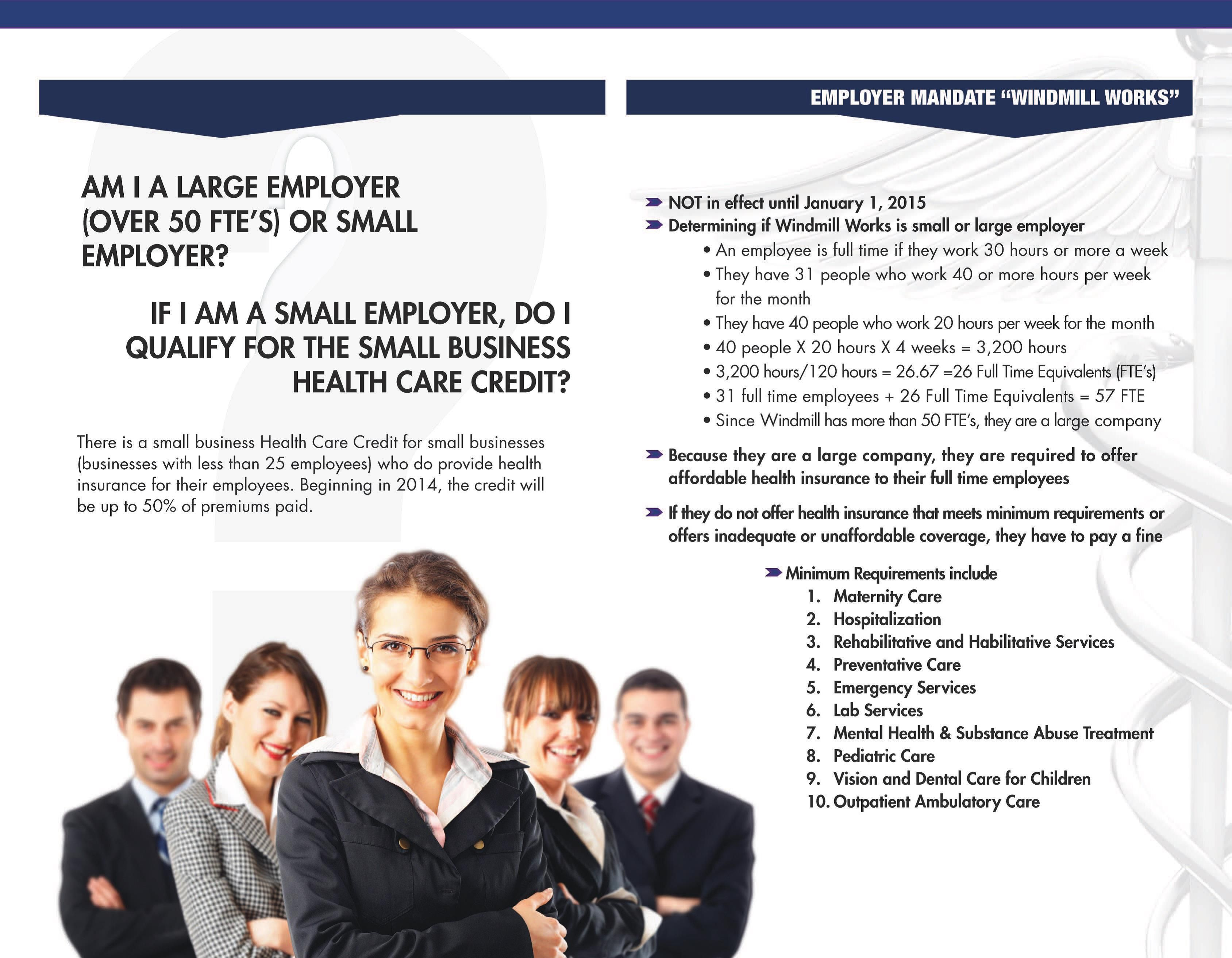 Do You Have A Small Business This Brochure Has Aca Information