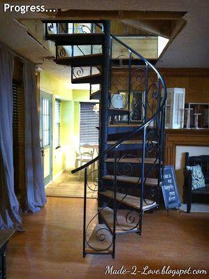 Nice Diy Spiral Staircase   Part 2