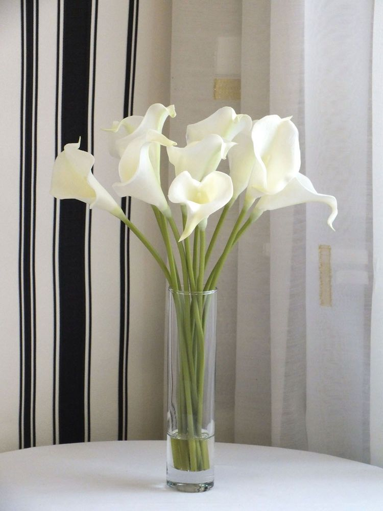 Artificial Flower Arrangement In Vase Quality Artificialcala Lillies