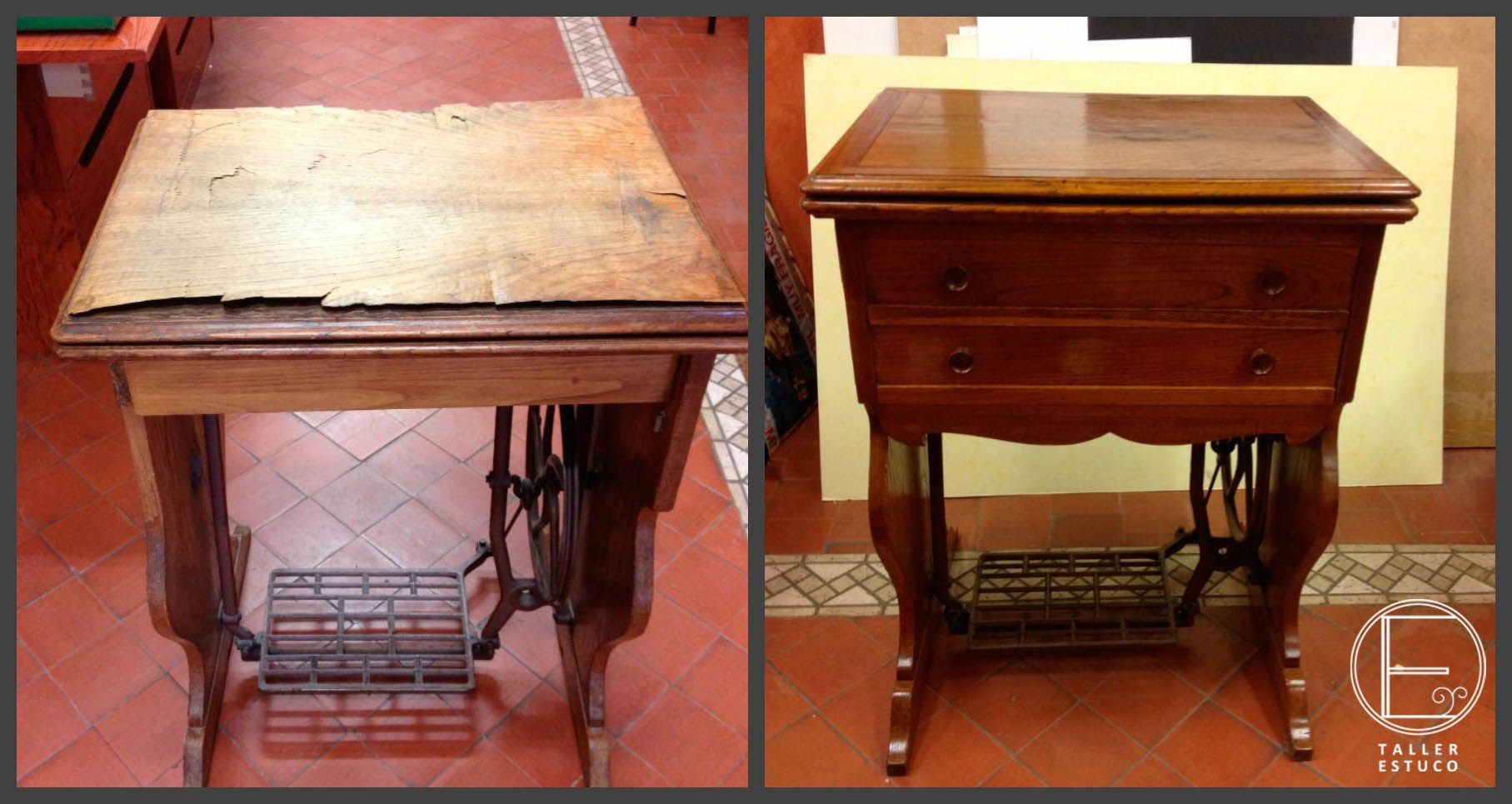 Restauraci N De Un Mueble Estructura De M Quina De Coser  # Muebles Maquina De Coser