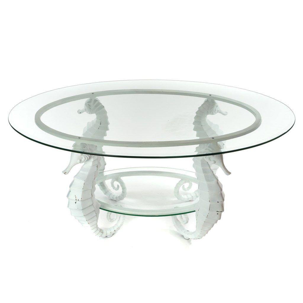 Aluminum Seahorse Coffee Table Pinterest Barrels Ohio House And - Seahorse coffee table