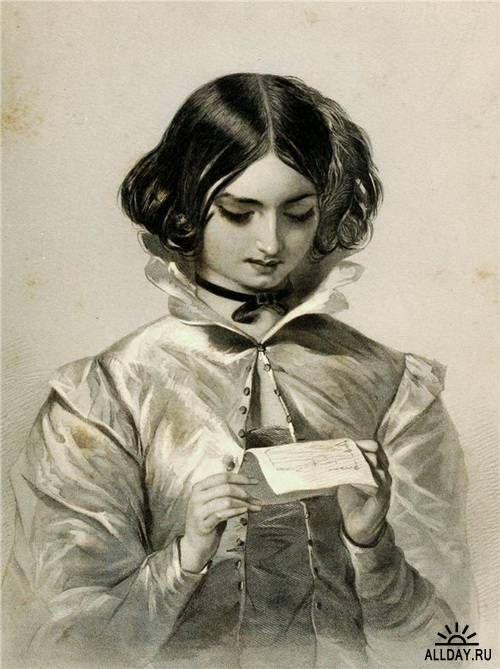 Artist: Charles Theodosius Heath - Heroines of Shakespeare (1904 lithograph.)