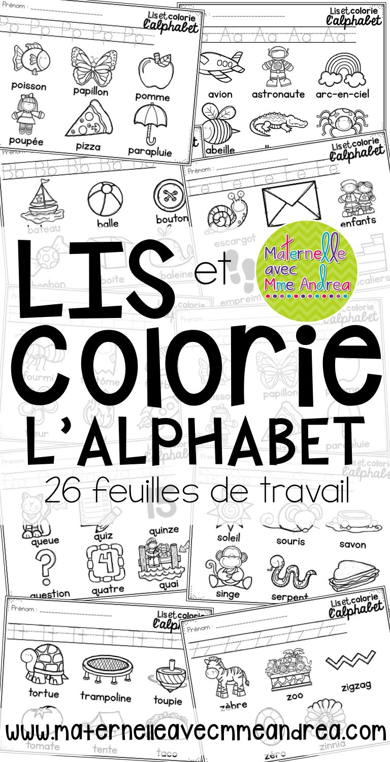 FRENCH Alphabet Read and Colour - lis et colorie l\'alphabet en ...