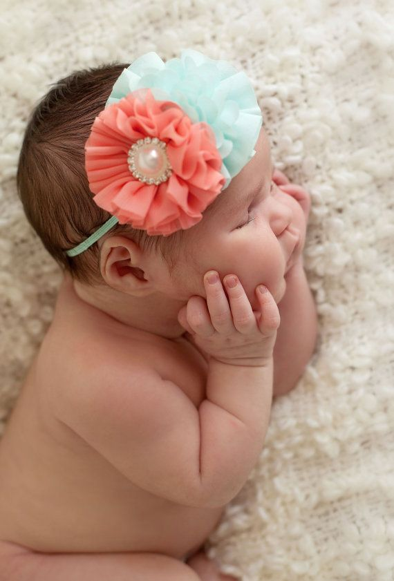 39783670a315 Coral baby headband infant headband newborn by buttercupsbows