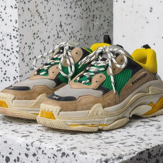 Balenciaga White Pink And Yellow Triple S Leather Farfetch