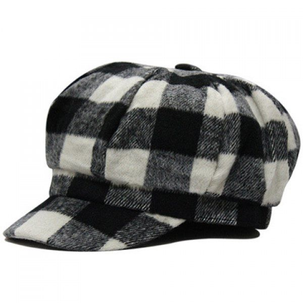 $7.22 Chic Tartan Pattern Winter Newsboy Hat For Women | Hats ...