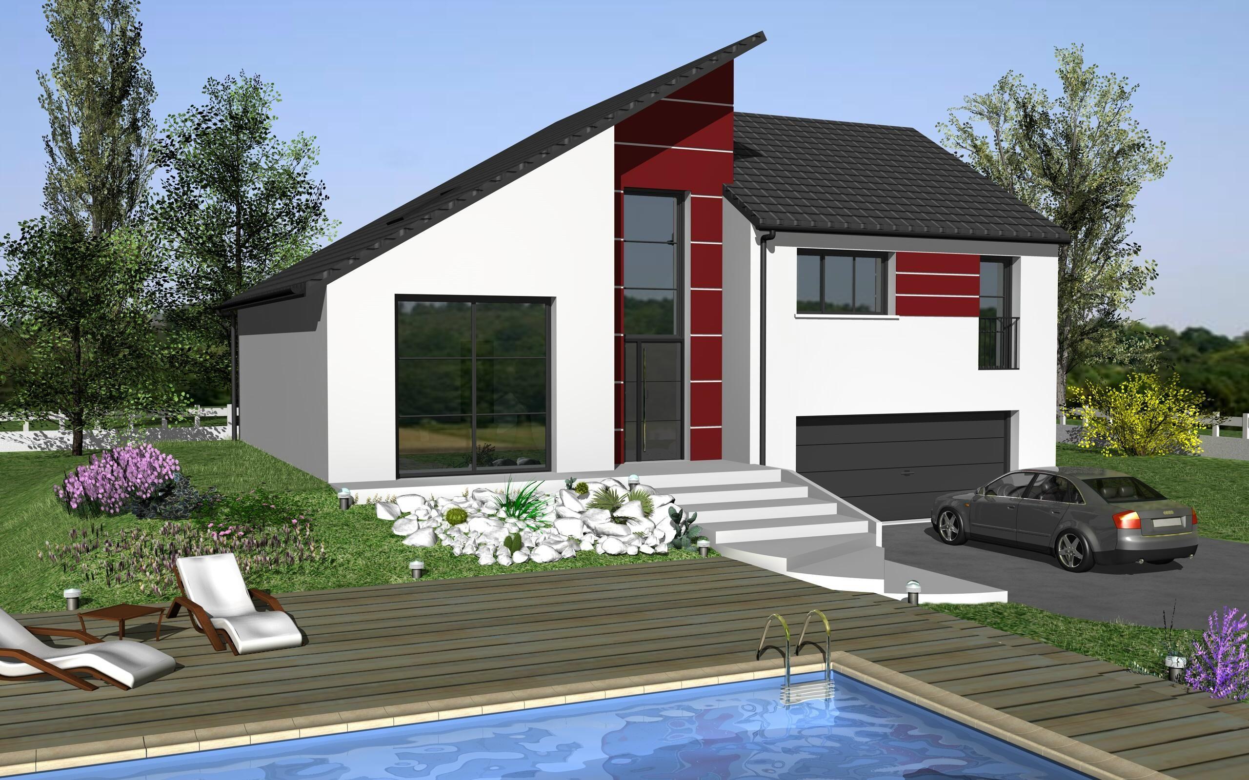 Elodie design est un mod le de maison de style moderne elle poss de 6 pi ces - Maison style moderne ...