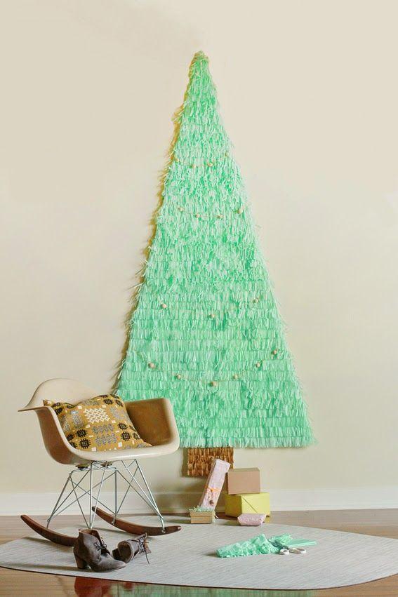 Decorar Arbol Navidad En Papel.Diy Arbol De Navidad Con Papel Seda Decorar Tu Casa Es