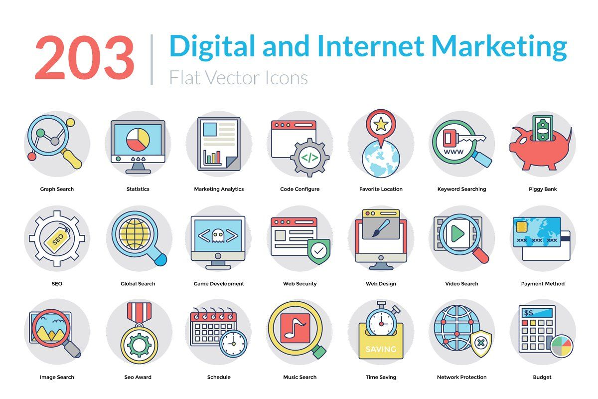 5158 Flat Icons Pack in 2020 Marketing icon, Technology