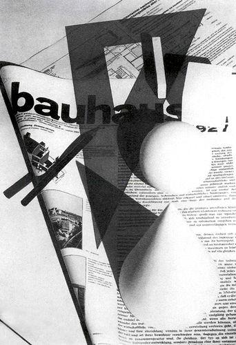 Magazine cover, 1928 designed by Bauhaus instructor Herbert Bayer (Austrian/American 1900-1985)
