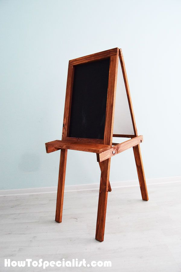 how to build a folding kids chalkboard easel wood projects