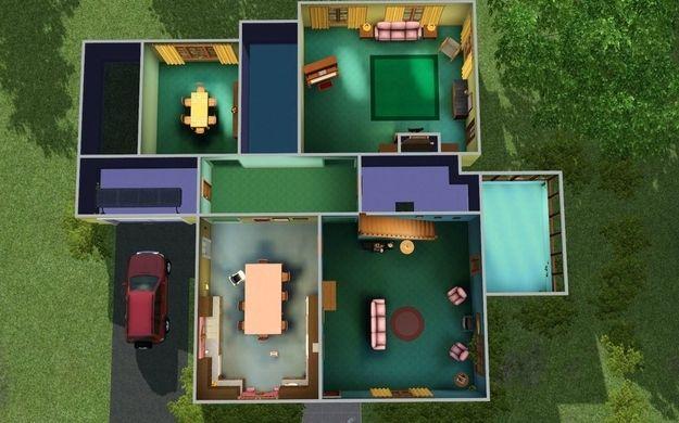 Reddit User Recreates The House From Family Guy In Sims 3 Sims 4 Family Sims Family Guy