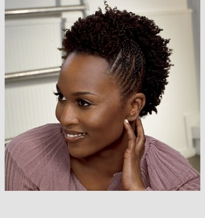 Criss Cross Twist Natural Hairstyle