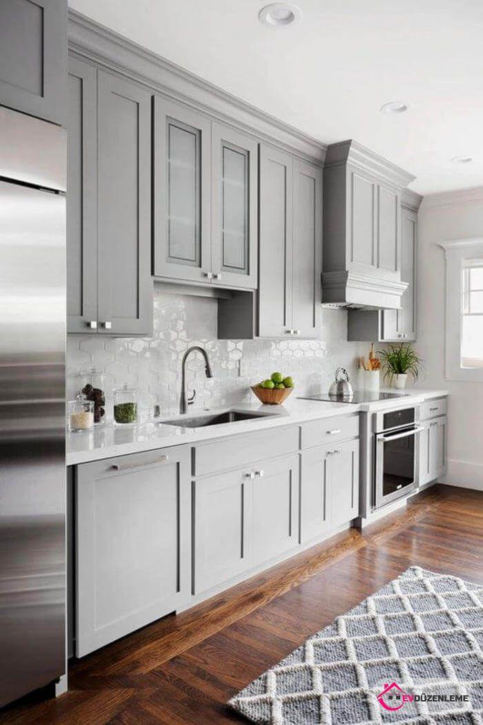 35 Benzersiz Mutfak Dolabı Modelleri #greykitcheninterior