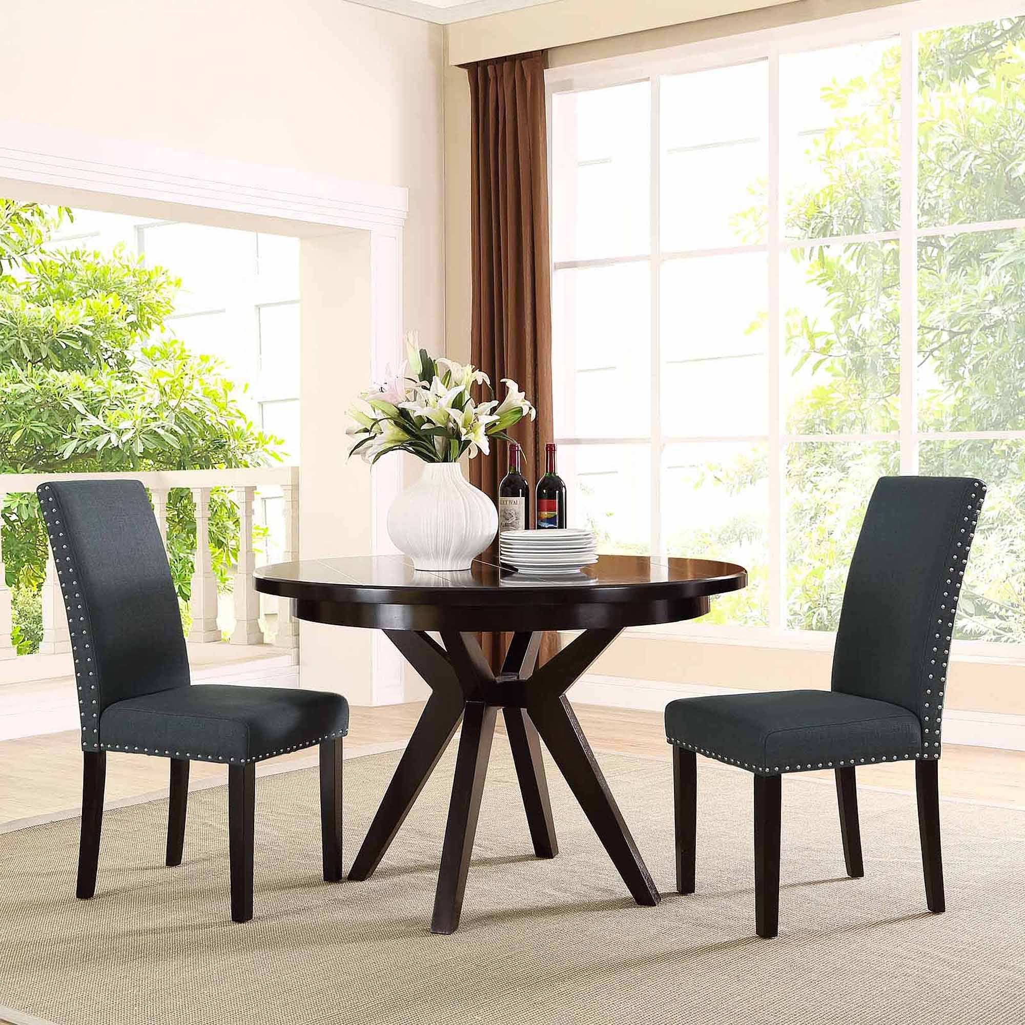 modway parcel upholstered dining side chair multiple colors rh pinterest com