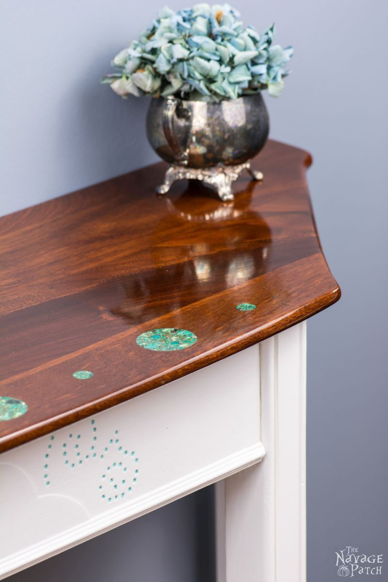 Turquoise Inlay Console A Dining Table Upcycle Diy