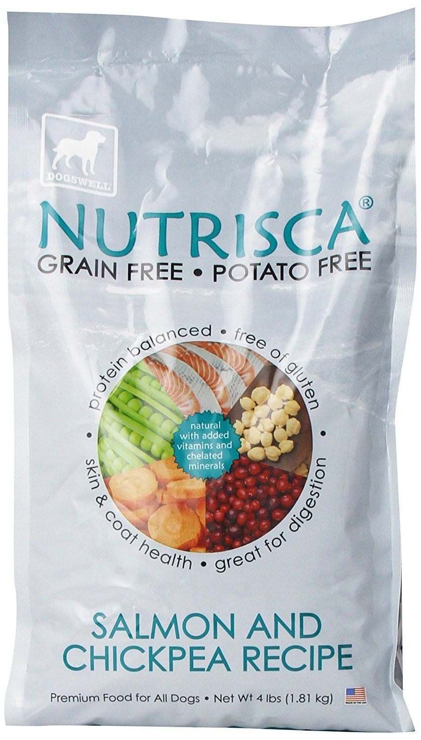 Dogswell nutrisca dog food salmon and chickpea 4pound