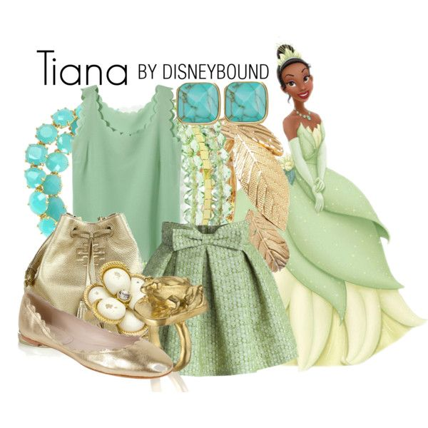 Tiana by leslieakay on Polyvore featuring Chicwish, Fabio Rusconi, Tory Burch, Les Néréides, FOSSIL, 1928, Blu Bijoux, River Island and Disney
