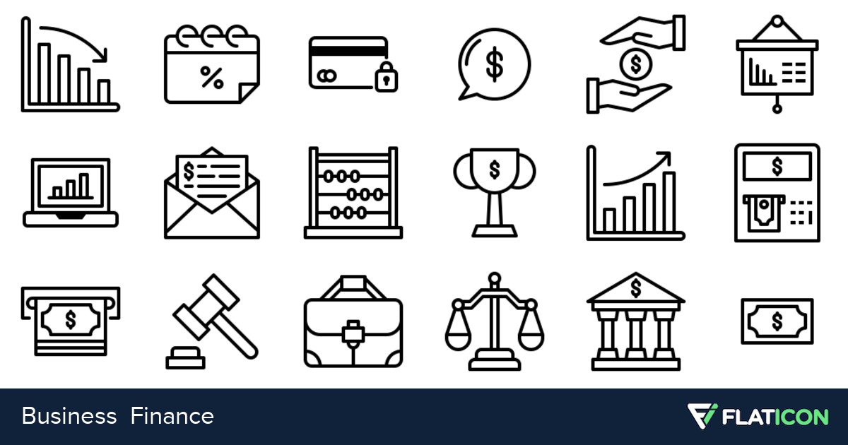 50 premium vector icons of Business Finance designed by