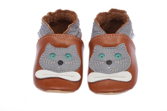 9e42efae27273 Brown Leather Baby Shoes, Soft Sole Baby Shoes, Girls',Boys', Infant ...