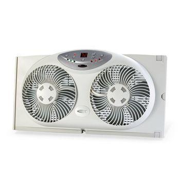 Bionaire Twin Window Fan Window Fans Digital Thermostat Best Windows