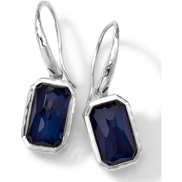 Ippolita Sterling Silver Wonderland Rectangular Mini-Drop Earrings v25wv