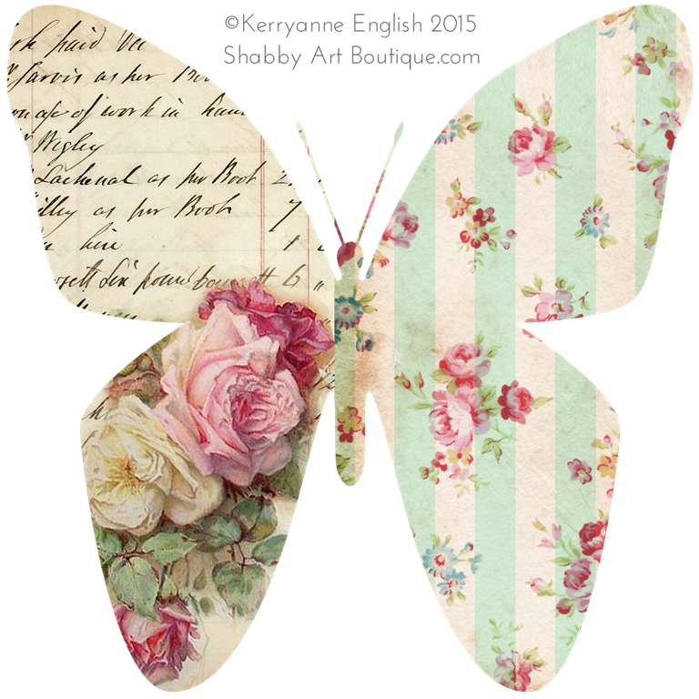 Shabby Art Boutique - Butterfly graphic 4