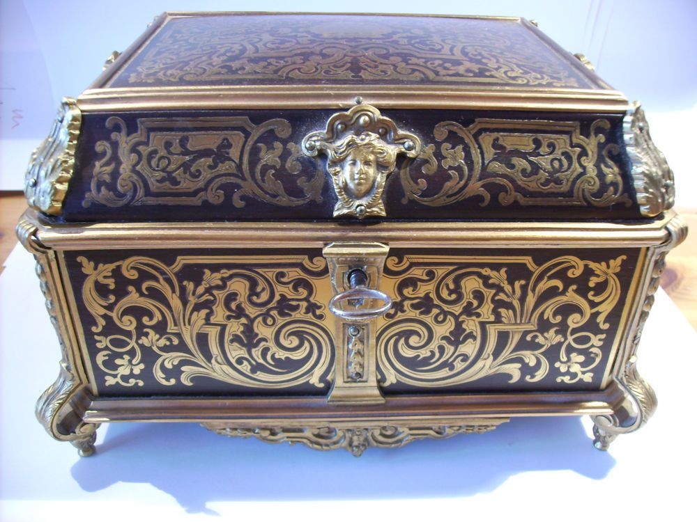 antik french boulle intarsiert juwelbox 1840 50 tahan. Black Bedroom Furniture Sets. Home Design Ideas