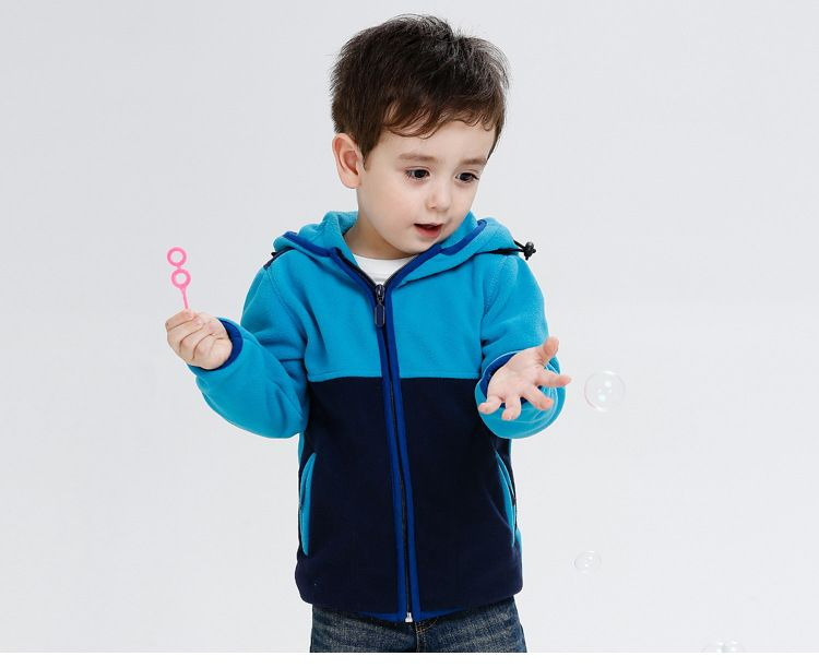 b86ec5455 Click to Buy    Color Block Cotton Spring Winter Fleece Boys Girls ...
