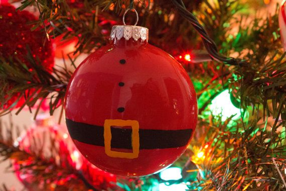 Santa Hand-painted Ornament by CaptaLux on Etsy
