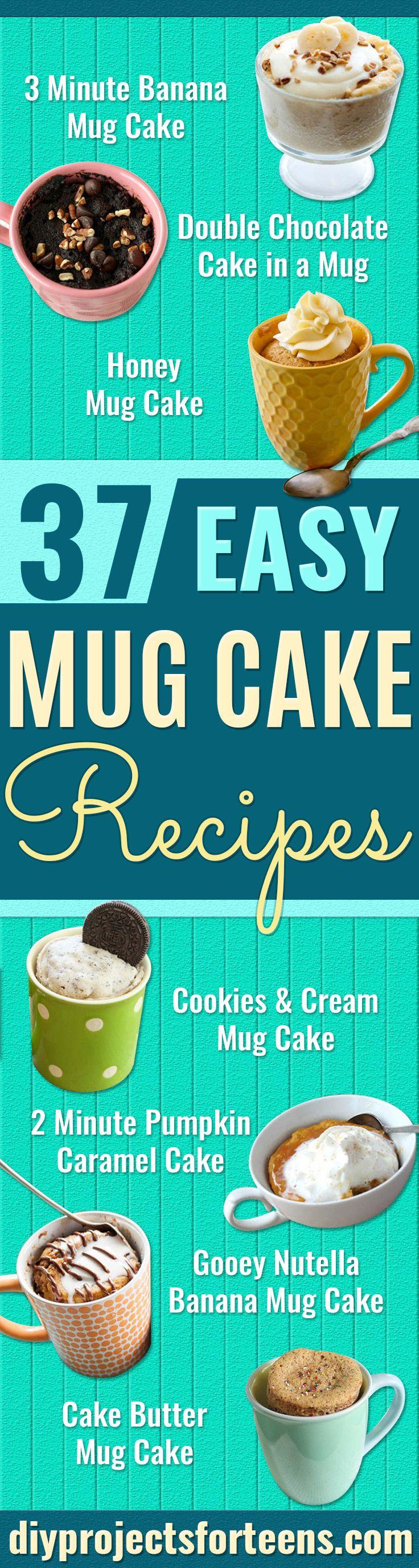 37 Mug Cake Recipes | Mug recipes, Easy mug cake ...