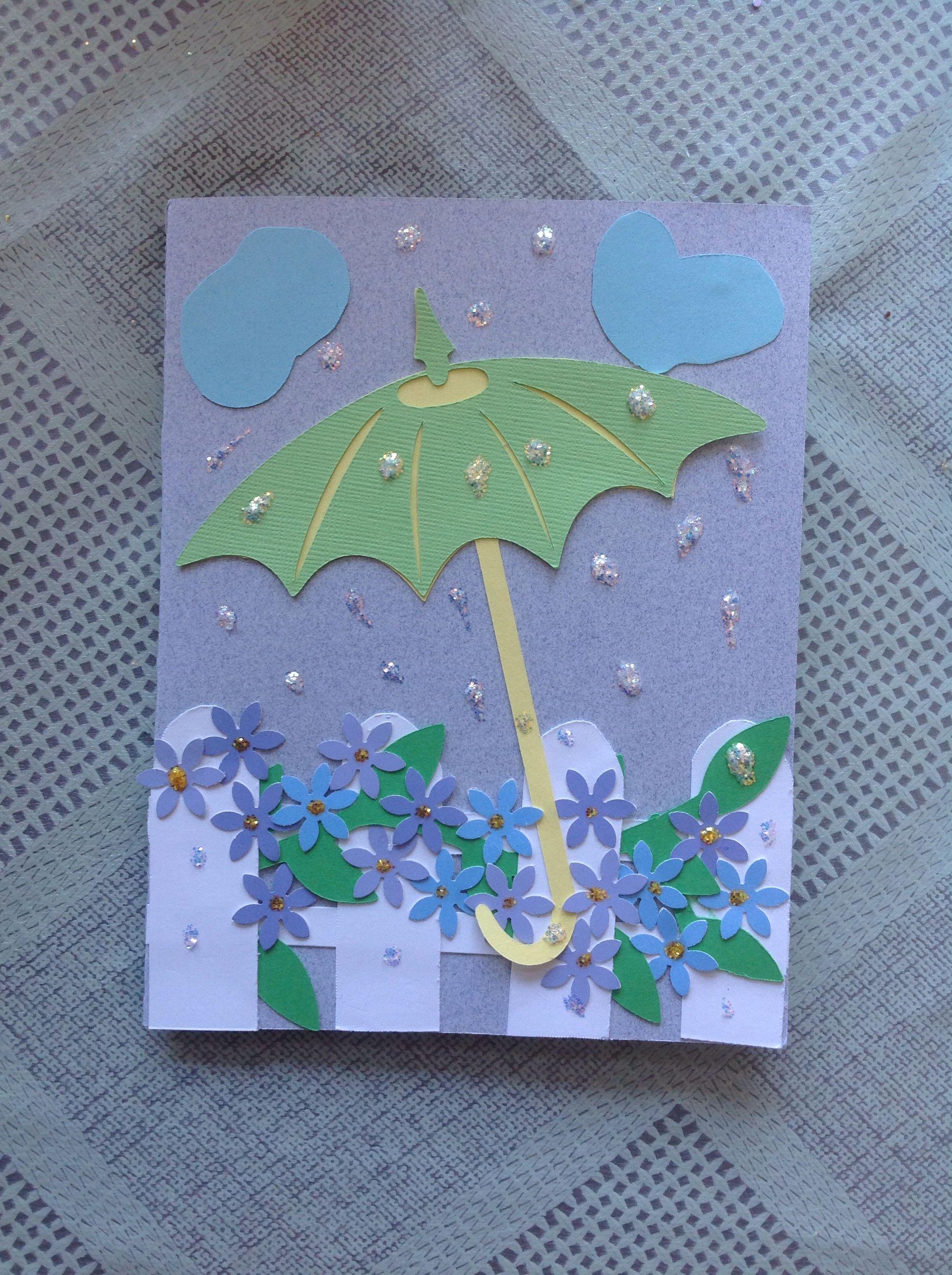 Umbrella card by Donna