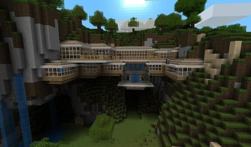 Minecraft house on side of mountain - Amazing | Minecraft ...