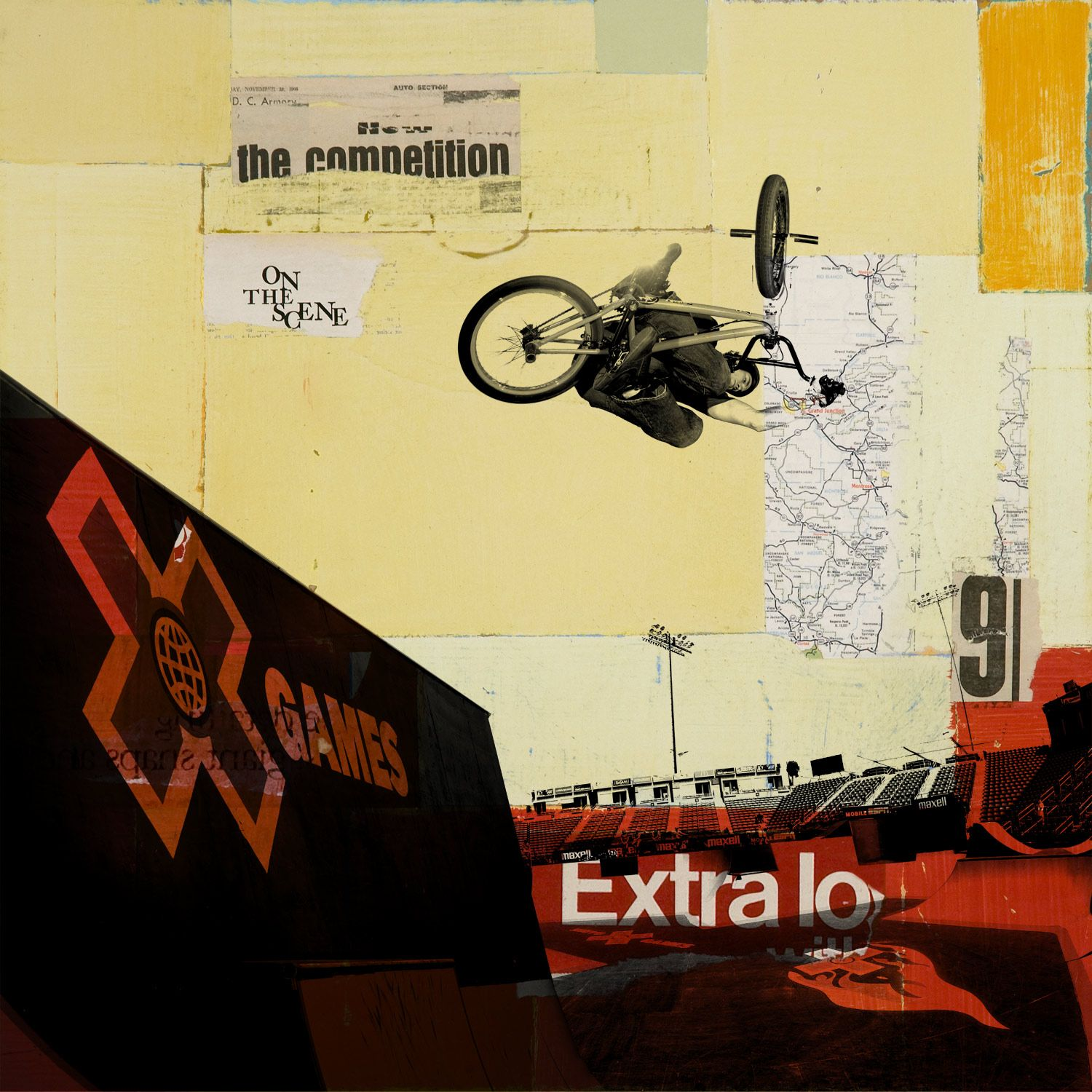 ESPN X Games Paintings by Robert Mars | Robert Mars | Pinterest ...
