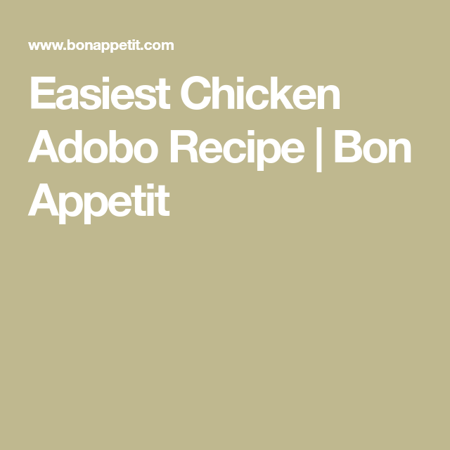 Easiest Chicken Adobo